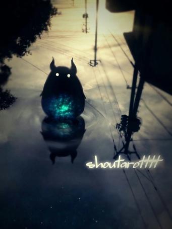Фото Маленький демон стоит в луже, by ShouTaro