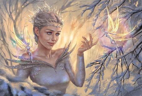 Фото Девушка в короне с эльфийками
