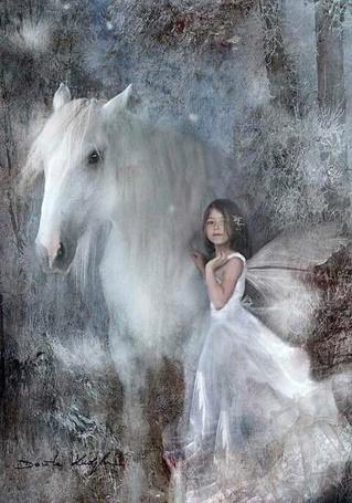 Фото Девочка с лошадью