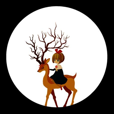 Фото Девочка верхом на олене