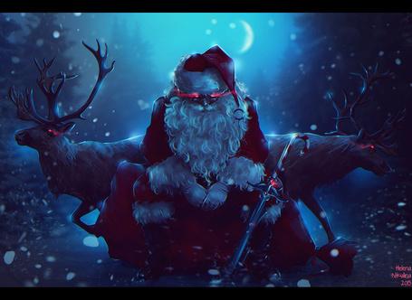 Фото Дед Мороз с оленями, by Nikulina-Helena