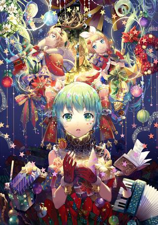 Фото Vocaloids / Вокалоиды Hatsune Miku / Хатсуне Мику, Kagamine Len / Кагамине Лен и Kagamine Rin / Кагамине Рин