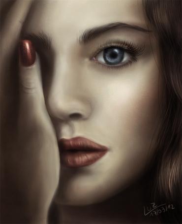 Фото Девушка прикрыла лицо рукой, by Luz MailenTapia