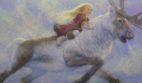 Фото Герда скачет на олене в царство Снежной королевы