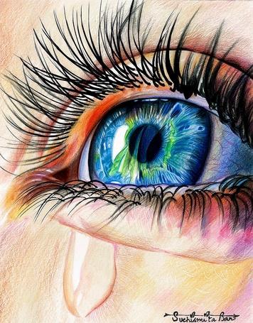 Фото Глаз девушки со слезой, by Jenny-artascending