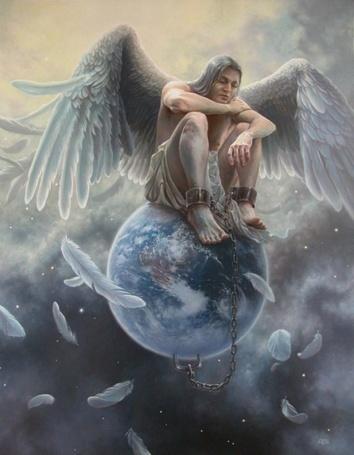 Фото Мужчина ангел прикован к планете Земля, by Tomasz Alen Kopera