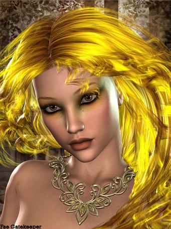 Фото Девушка с желтыми волосами и красивыми глазами, by Fae Gatekeper