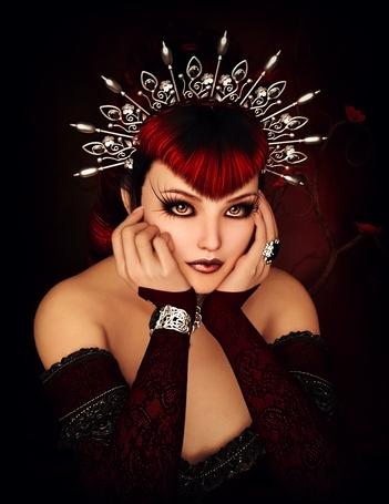 Фото Красивая девушка с украшением на голове, by Ikke46