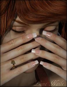 Фото Девушка прикрыла лицо руками, Lune Nails
