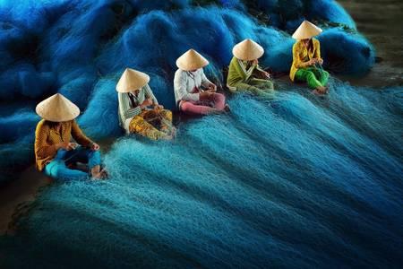 Фото Женщины плетут сети (Вьетнам), Ly Hoang Long