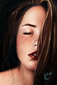 Фото Девушка с закрытыми глазами, by gabrielle ragusi