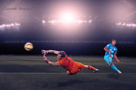 Фото Футболист Зенита забивает гол, фотограф Владимир Малышев