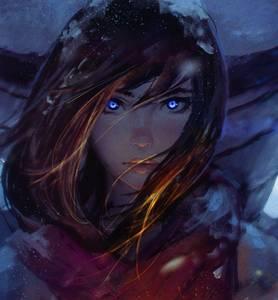 Фото Симпатичная девушка с голубыми глазами, ву GUWEIZ