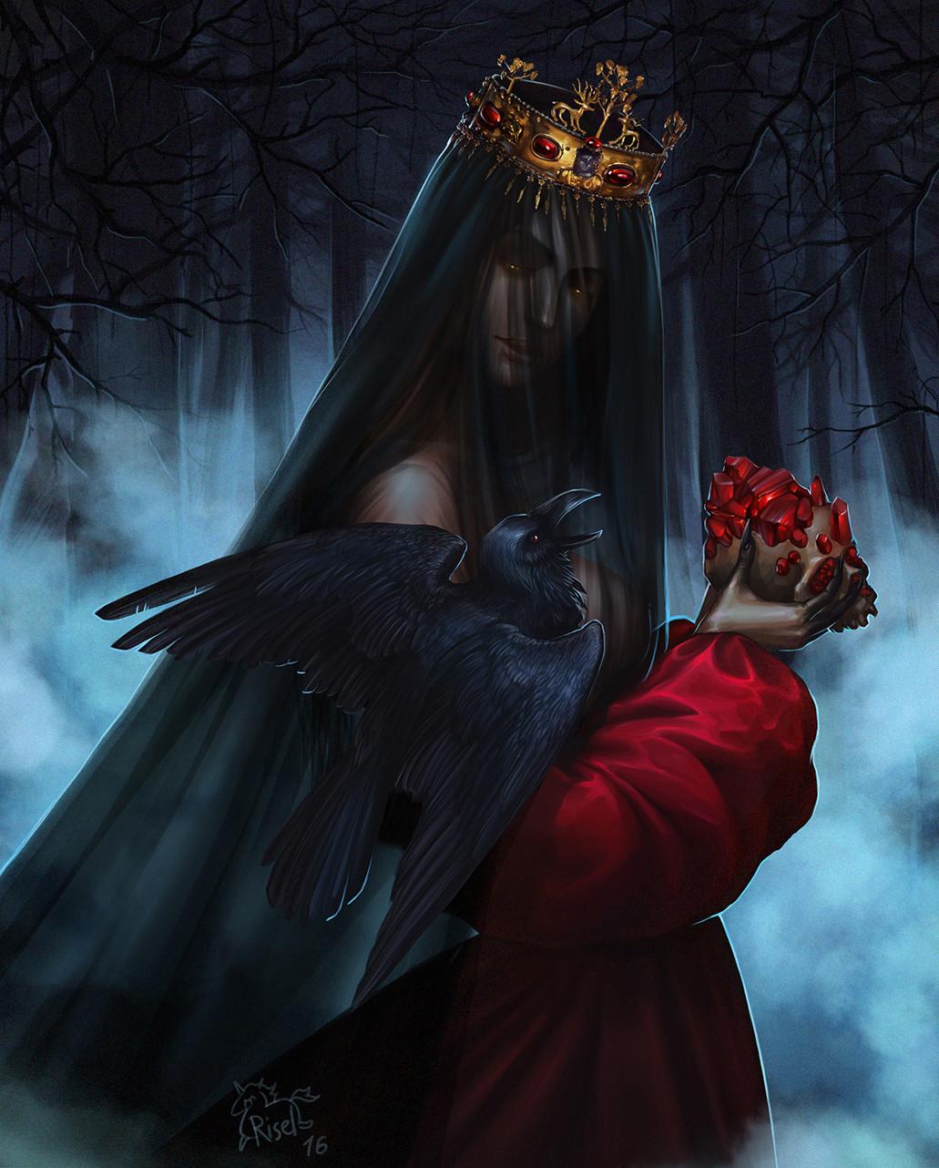 Картинки ведьмы с вороном