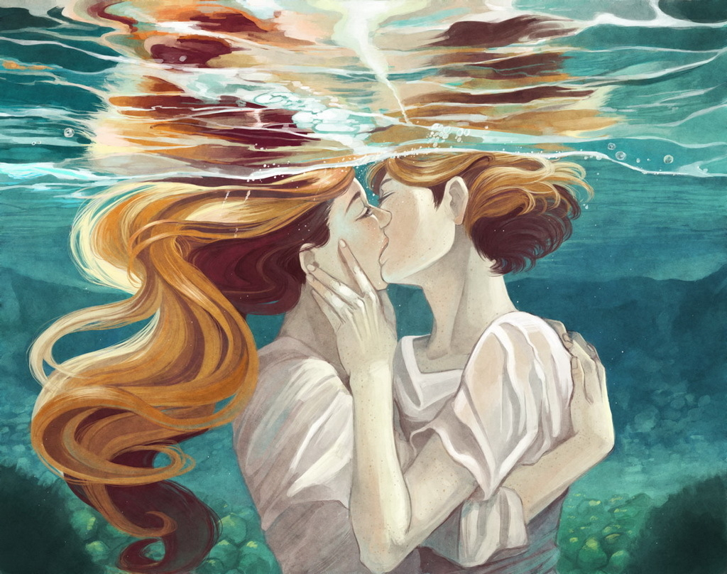 Фото поцелуев с рыжими волосами 14 фотография