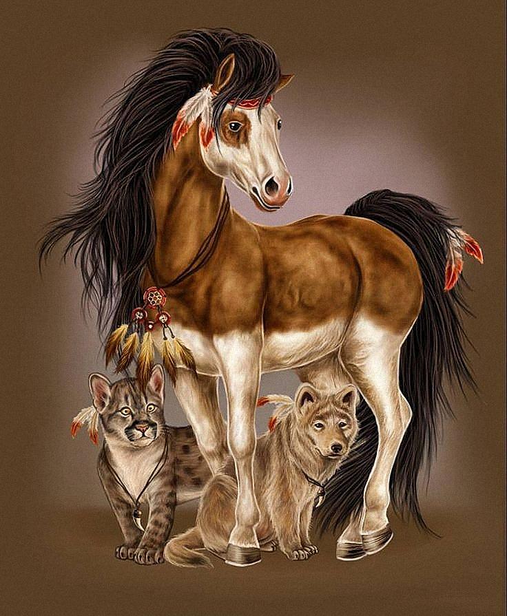 Картинки собаки лошади и кошки