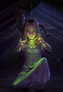 Фото Между руками девочки светящийся мотылек, by EranFolio