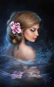 Фото Девушка с цветами в волосах, ву Helena