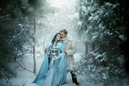 Фото Влюбленные в зимнем лесу, фотограф Екатерина Ромакина