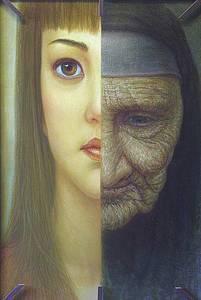 Фото Молодость и преклонный возраст женщины, художник Игорь Майков