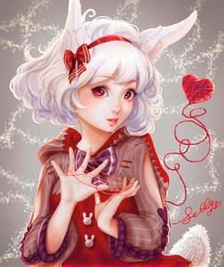 Фото Милая девушка с кроличьими ушками и хвостиком, by Sillyselly