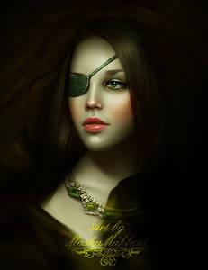 Фото Красивая девушка с повязкой на глазе / by mashamaklaut/