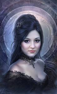 Фото Темноволосая красавица с украшением на шее / by Helga-Helleborus/