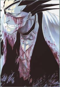 Фото Zaraki Kenpachi капитан 11 отряда из аниме Блич / Bleach, art by Kubo Tite