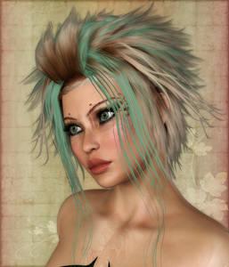 Фото Гламурная девушка с большими зелеными глазами и красивыми губами / by TLCDigitalArt/