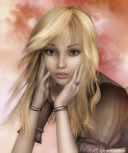 Фото Милая светловолосая девушка с красивыми большими глазами / by Radthorne/