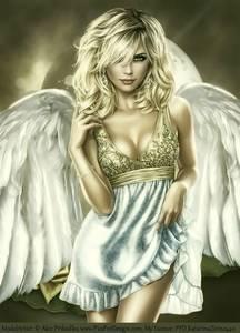 Фото Красивый ангел с голубыми глазами / by MoonZaphire/
