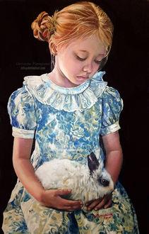 Фото Грустная девочка с кроликом, by XRlS