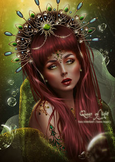 Фото Грустная девушка с заплаканными глазами и с короной на голове / by saritaangel07/