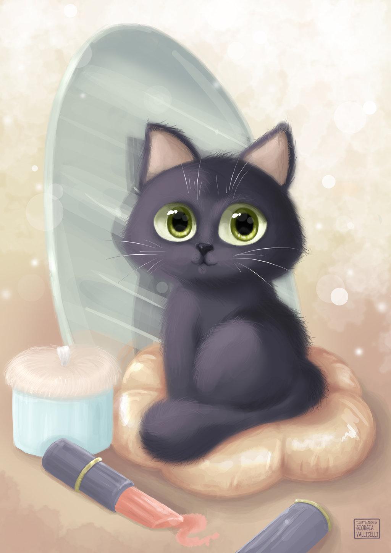 запутал картинки милые котики мультяшные что, если маленький