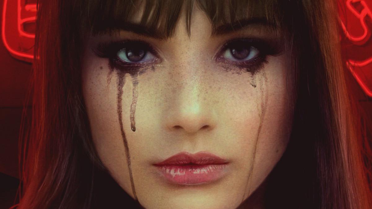 Фото Девушка со слезами на глазах