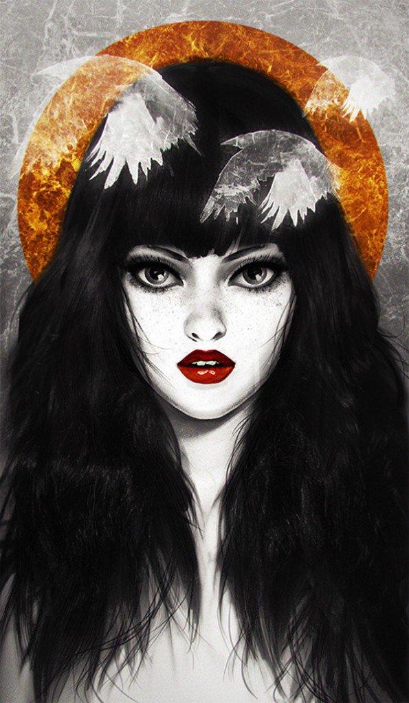 картинка темноволосая эльфийка