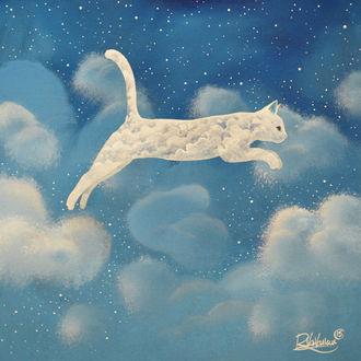 Фото Облачный котенок в небе, ву raphael vavasseur