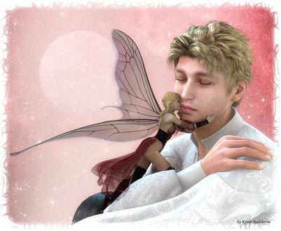 Фото Девушка - эльф целует грустного мужчину / by Radthorne/