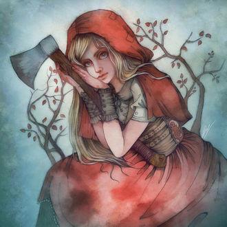 Фото Красная Шапочка / Red Riding Hood с топором, by Moon-In-Milk
