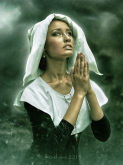 Фото Молящаяся девушка-монашка, by J-u-d-a-s