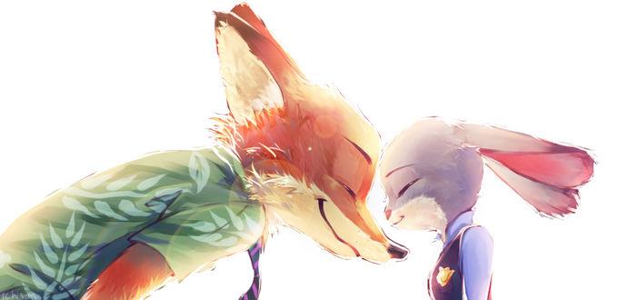 Фото Джуди Хопс / Judy Hopps и Ник Уайлд / Nick Wilde из мультфильма Зверополис / Zootropolis, by Momichihaku-Ichisan