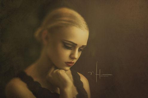 Фото Портрет грустной девушки, ву Nikki Harrison