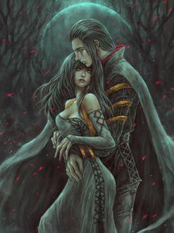Фото Влюбленные парень и девушка в обьятиях, by NanFe