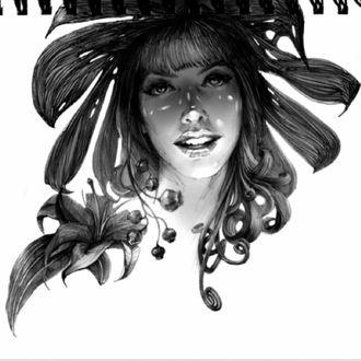 Фото Портрет девушки с цветами, ву Zhang Weber