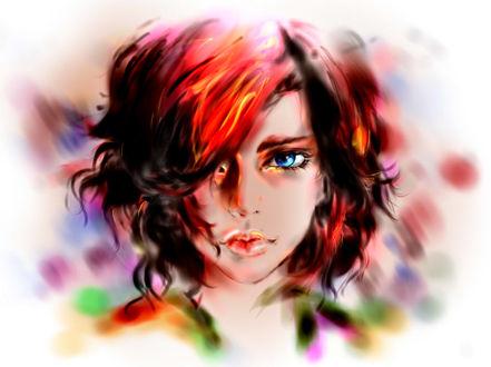Фото Девушка с короткой стрижкой и голубыми глазами, by Taiss14