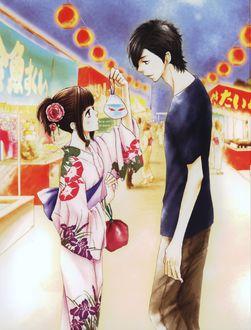 ���� Mei Tachibana � ����� ���������� Yamato Kurosawa ������� ����� �� ����� Say i love you / ����� � ����� ����, art by Kanae Hazuki