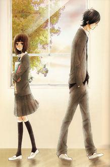���� Mei Tachibana � Yamato Kurosawa � �������� ����� �� ����� Say i love you / ����� � ����� ����, art by Kanae Hazuki