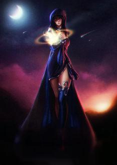 Фото Девушка с магией в руке, by Axsens