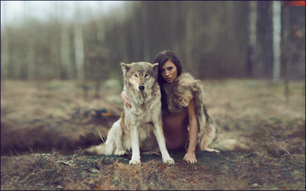 Wolf and woman nude — 15