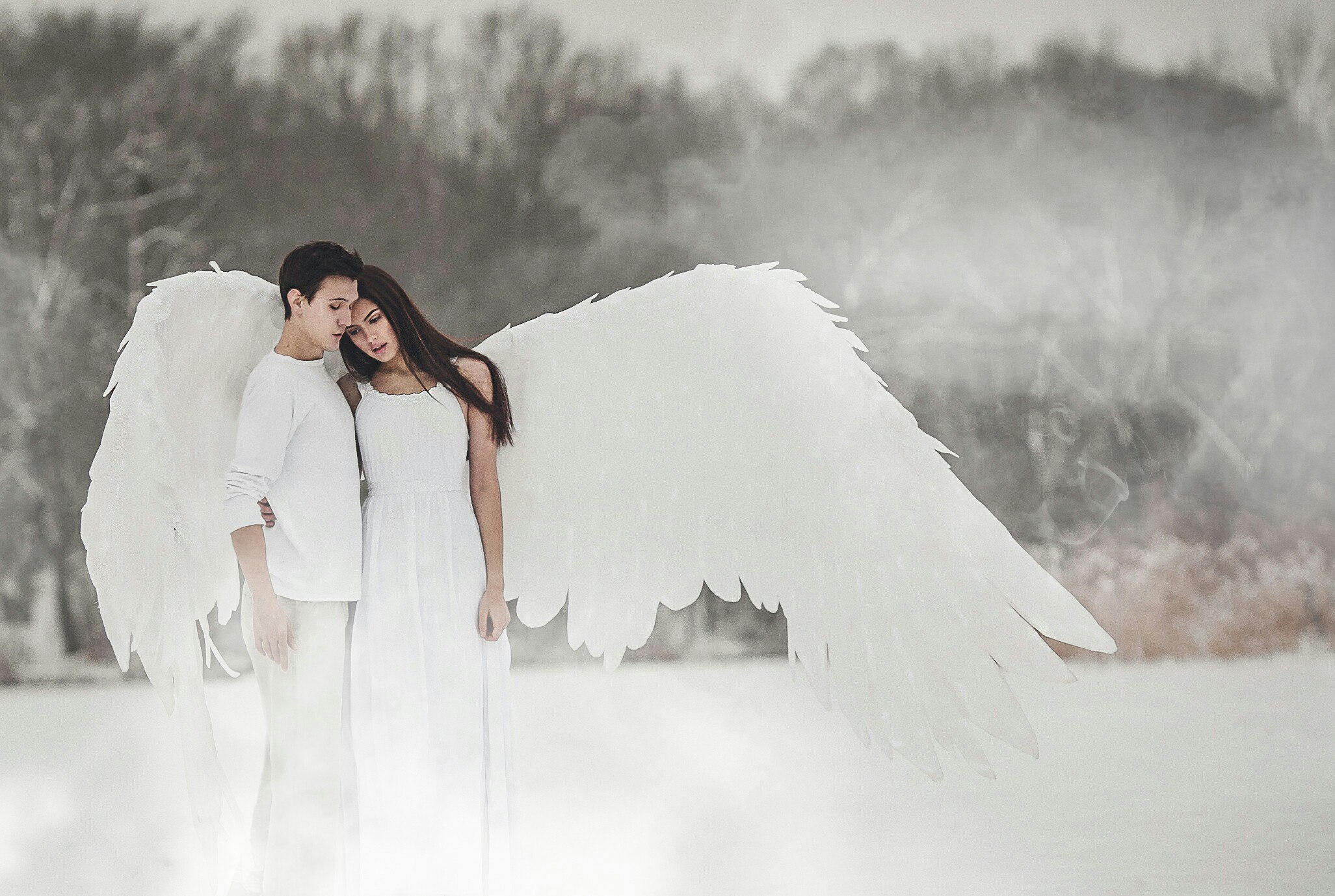 Фото рыжих ангелов сзади 11